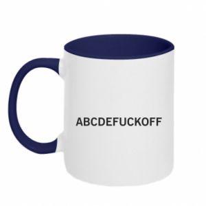 Kubek dwukolorowy Abcdefuckoff