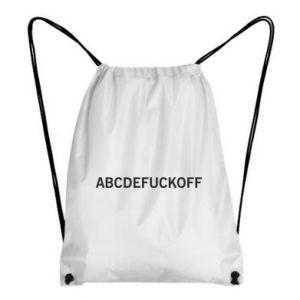Plecak-worek Abcdefuckoff