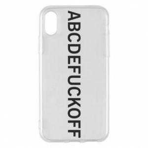 Etui na iPhone X/Xs Abcdefuckoff