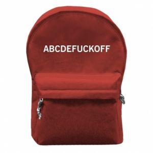 Plecak z przednią kieszenią Abcdefuckoff