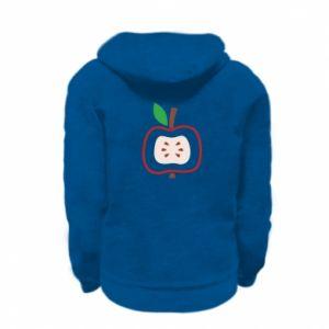 Bluza na zamek dziecięca Abstract apple