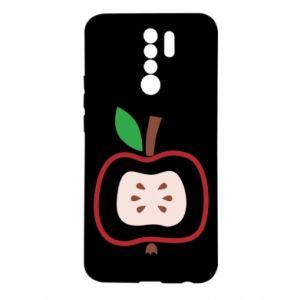 Etui na Xiaomi Redmi 9 Abstract apple