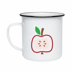 Kubek emaliowany Abstract apple