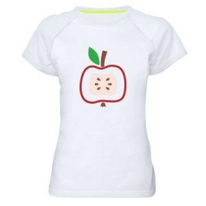Koszulka sportowa damska Abstract apple