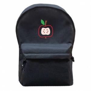 Plecak z przednią kieszenią Abstract apple