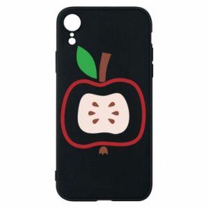 Etui na iPhone XR Abstract apple