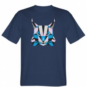 Koszulka męska Abstrakcja geometryczna kota