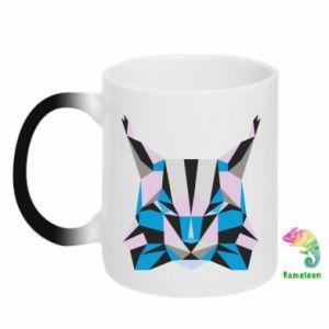 Kubek-magiczny Abstrakcja geometryczna kota