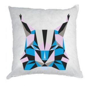 Poduszka Abstrakcja geometryczna kota