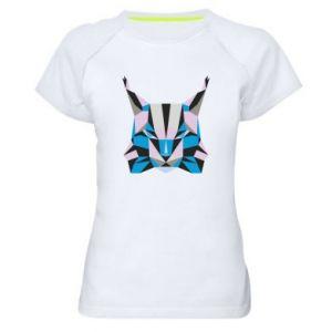 Koszulka sportowa damska Abstrakcja geometryczna kota
