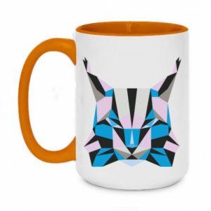 Kubek dwukolorowy 450ml Abstrakcja geometryczna kota