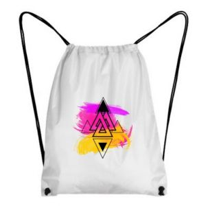 Plecak-worek Abstrakcjonistyczna ilustracja kleks