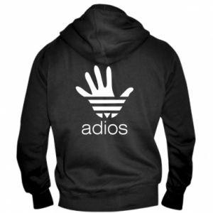 Męska bluza z kapturem na zamek Adios adidas