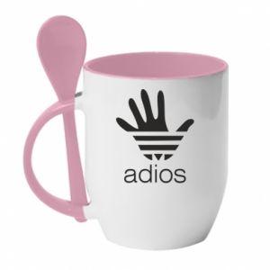 Kubek z ceramiczną łyżeczką Adios adidas
