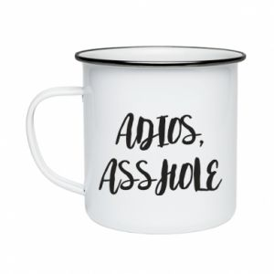Kubek emaliowane Adios asshole