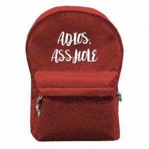 Plecak z przednią kieszenią Adios asshole