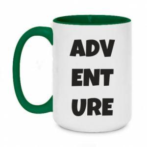 Two-toned mug 450ml Adventure