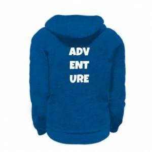 Kid's zipped hoodie Adventure