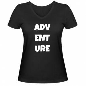 Damska koszulka V-neck Adventure