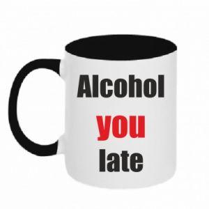 Kubek dwukolorowy Alcohol you late