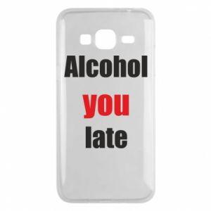 Etui na Samsung J3 2016 Alcohol you late