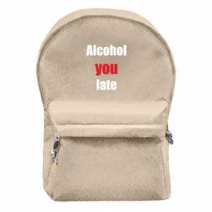 Plecak z przednią kieszenią Alcohol you late