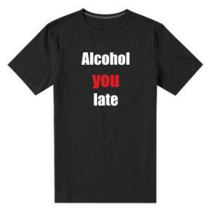 Męska premium koszulka Alcohol you late