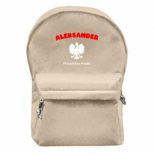 Plecak z przednią kieszenią Aleksander jest prawdziwym Polakiem
