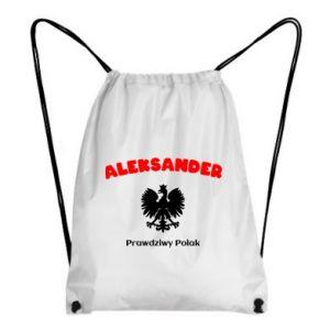 Plecak-worek Aleksander jest prawdziwym Polakiem