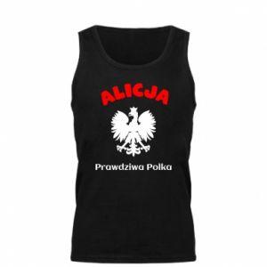 Męska koszulka Alicja jest prawdziwą Polką