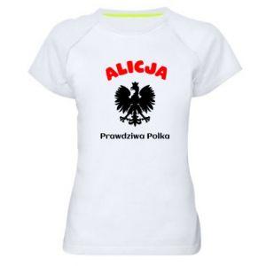 Damska koszulka sportowa Alicja jest prawdziwą Polką