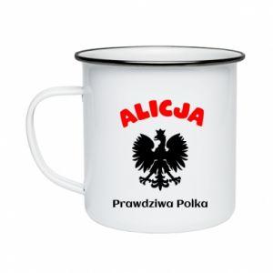 Kubek emaliowane Alicja jest prawdziwą Polką