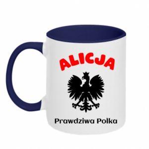 Kubek dwukolorowy Alicja jest prawdziwą Polką