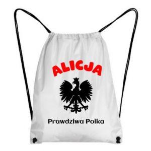 Plecak-worek Alicja jest prawdziwą Polką