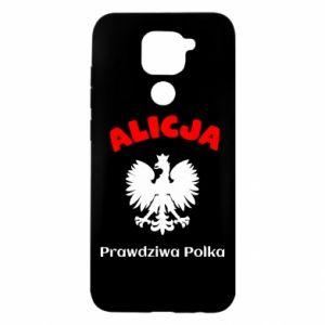 Xiaomi Redmi Note 9 / Redmi 10X case % print% Alice is a real Pole, names, patriotic