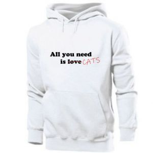 Men's hoodie All you need is cats