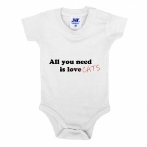 Baby bodysuit All you need is cats