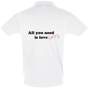 Men's Polo shirt All you need is cats