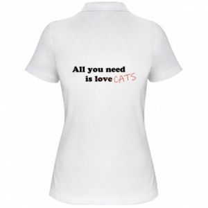 Women's Polo shirt All you need is cats