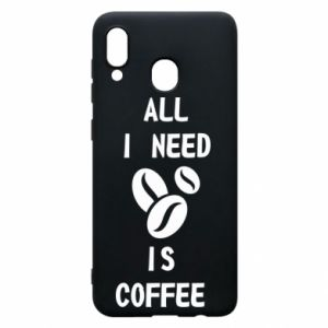 Etui na Samsung A20 All I need is coffee