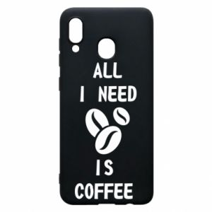 Etui na Samsung A30 All I need is coffee