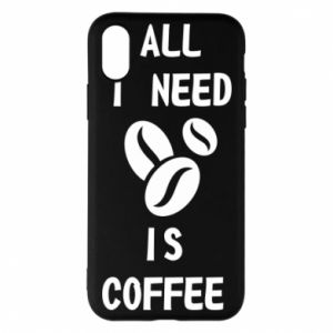 Etui na iPhone X/Xs All I need is coffee