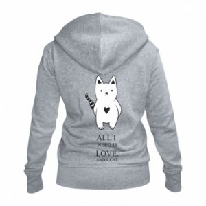 Damska bluza na zamek All i need is love and a cat