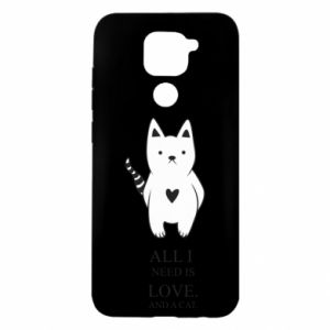 Xiaomi Redmi Note 9 / Redmi 10X case % print% All i need is love and a cat