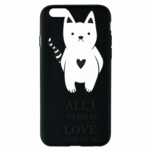 Etui na iPhone 6/6S All i need is love and a cat