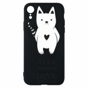 Etui na iPhone XR All i need is love and a cat