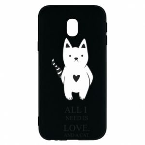 Etui na Samsung J3 2017 All i need is love and a cat