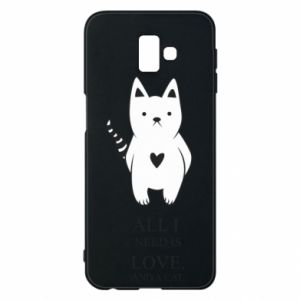 Etui na Samsung J6 Plus 2018 All i need is love and a cat