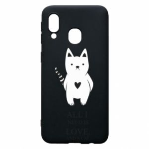 Etui na Samsung A40 All i need is love and a cat