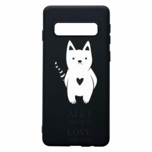 Etui na Samsung S10 All i need is love and a cat